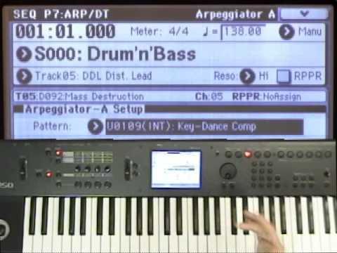 Korg M50 Video Tutorial Lesson #29 - Recording Arpeggios