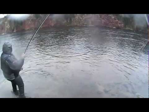 Salmon Fishing Scotland Spring fishing on the Pitlochrie beat at Stanley, Perthshire March 2013.
