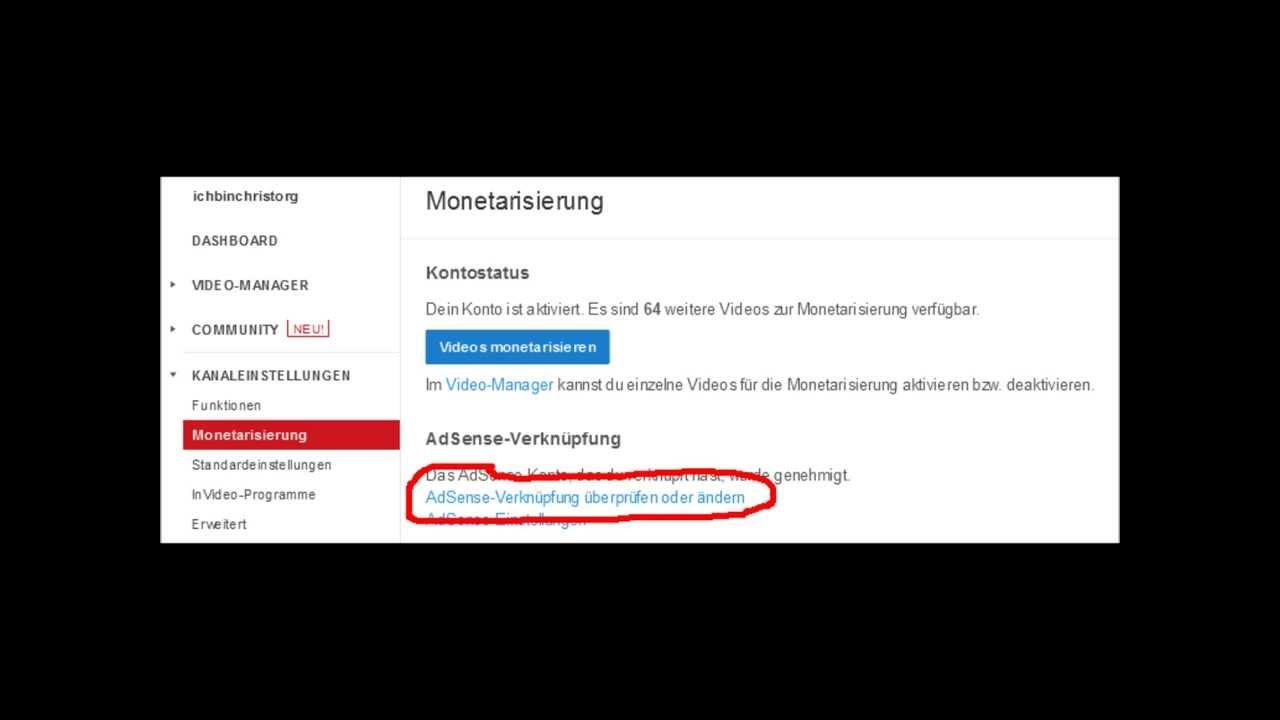 youtube werbung geld