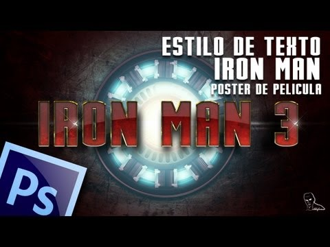Tutorial photoshop texto Iron man 3 by @ildefonsosegura