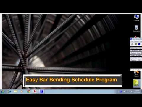 Easy Bar Bending Schedule Program
