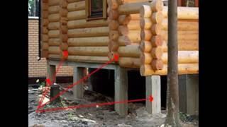Столбчатый фундамент для дома Как сделать столбчатый фундамент самому Технологии строительства.mp4