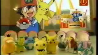 Pokémon McDonald's Pikachu Toy and Happy Set JPN Commercials