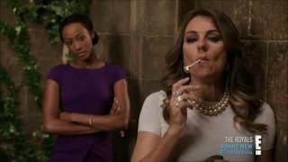 Alexandra Park, Elizabeth Hurley and Sarah Dumont Smoking