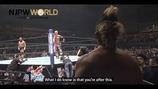 Kazuchika Okada makes a scathing statement on the mic [English subs]