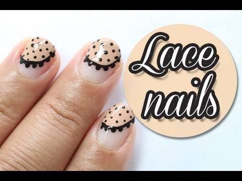 Easy nude lace nails