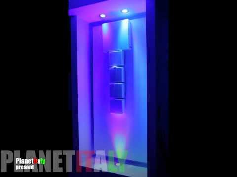 Faretto led rgb 15 watt cromoterapia illuminazione led rgb bagno doccia rgb m...