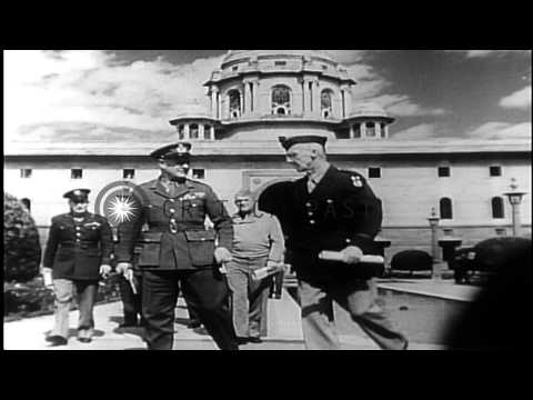 Career of Air Force General Henry (Hap) Arnold. The world War II years. HD Stock Footage