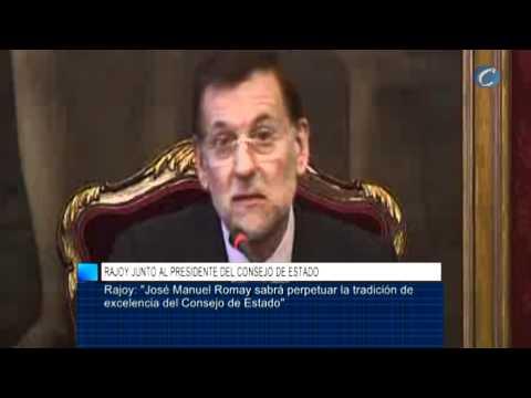 Rajoy reconoce el prestigio de José Manuel Romay Beccaria