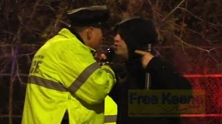 Cop Blocker Arrested for Crossing Street at DUI Checkpoint in Manchester (Video)
