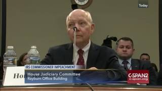 IRS Chief Koskinen Calls Impeachment