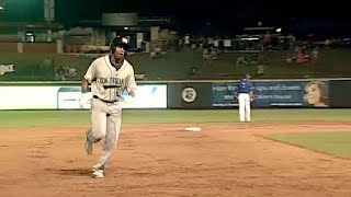 New Orleans' Scruggs hits second homer