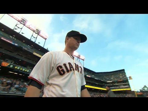 TOR@SF: Cain strikes out seven over eight innings