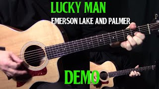"performance | how to play ""Lucky Man"" on guitar by Emerson, Lake & Palmer 