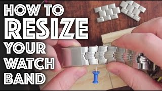 How to Resize / Adjust a Watch Band