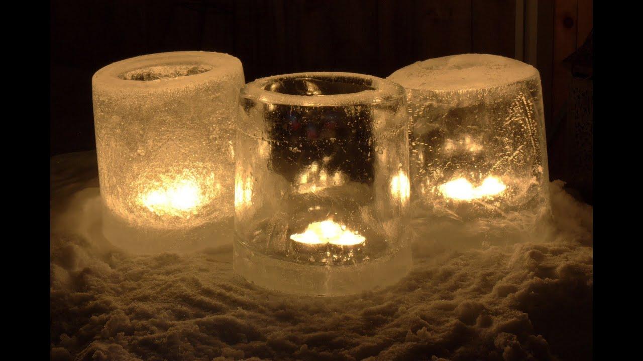How to make ice lanterns youtube for Making luminaries