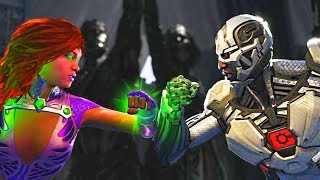 Injustice 2 - Starfire vs Cyborg All Intros, Clash Quotes And Supermoves