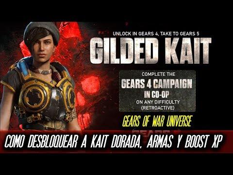 """Gears 5 : Road to Gears 5 """"Como Desbloquear a Kait Dorada, Set de Armas y Boost Xp"""""""