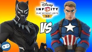 Black Panther VS Captain America Disney Infinity Marvel Battlegrounds Versus Gameplay