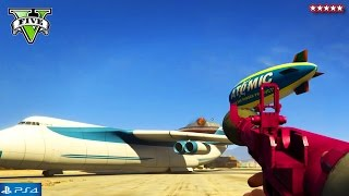 GTA 5 RARE NEXT GEN Vehicles - GTA 5 Online Cargo Plane, UFO, Blimp & Cars - GTA V Funny Moments PS4