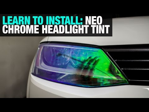 How To Install Neo Chrome Headlight Tint Film