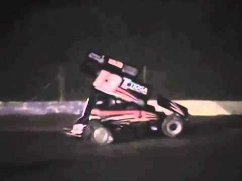 Tony Stewart Sprint Car Crash in Slow Motion