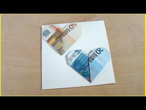 Geldscheine zu einer Sonne falten - geldgeschenke.org