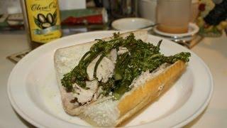 Italian Roasted Pork and Broccoli Rabe Sandwich