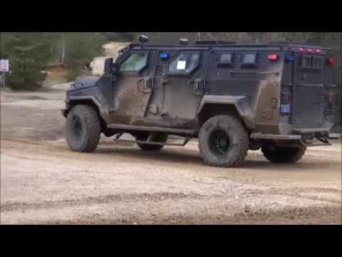 Test track area IAV International Armoured Vehicles 2013 defence exhibition Farnborough UK IQPC