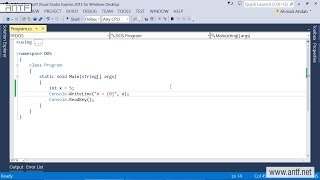 C# 202 - Examples on Variables بالعربية (Dr. ANTF)