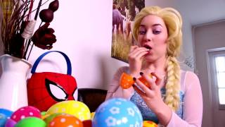 Frozen Elsa & Spiderman Popcorn Prank! W/ Pink Spidergirl, T-Rex - Godzilla & Joker! Superhero Movie
