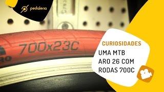 MTB aro 26 com rodas 700C de road bike (speed). Pedaleria