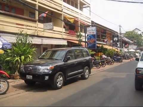 Vientiane, Laos, Rue Francois Ngin, Restaurants, Bars and Hotels.
