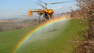 Kamov Ka-26 spraying liquid fertlizer near Somodorpuszta, Hungary