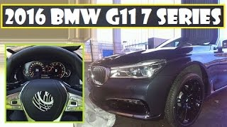2016 BMW G11 7 Series, after leaked with no camo, now steering wheel and instrument cluster