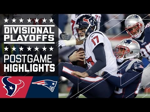 Texans Vs Patriots Nfl Divisional Game Highlights