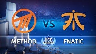 HGC 2018 - Mid-Season Brawl - Playoffs Day 1 - Method vs. Fnatic Game 1