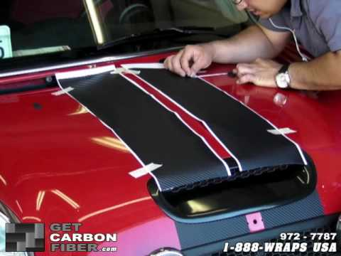 3m Di Noc Carbon Fiber Vinyl Racing Stripe Installation