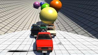 Crushing Cars with Giant Marbles 6 - BeamNG.Drive Car Accident