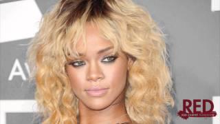 Rihanna The Grammy Awards 2012 Red Carpet Sexy Armani Dress