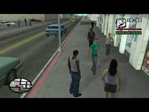 GTA San Andreas - CJ talks to people in San Fierro (1080p)
