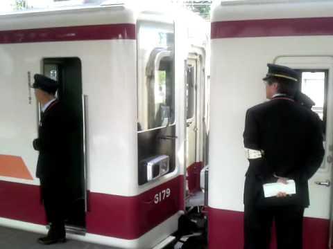 東武日光線下今市駅での区間快速会津田島行・東武日光行分割光景