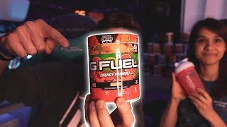 """MY GIRLFRIEND TRIES AND RANKS THE NEW """"GUAVA G-FUEL FLAVOR) CASTRO'S GUAVA G-FUEL FLAVOR TASTE TEST!"""
