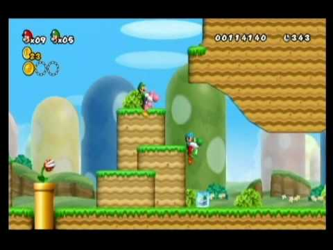 NEW SUPER MARIO BROS WII-ALM1GHTY & WIFEY-WALKTHROUGH-WORLD 1-3