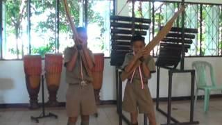 นักเรียนชั้น ป 5 ฝึกเป่าแคน ลายลำโปงลาง (ฝึกเป่าขั้นพื้นฐาน)