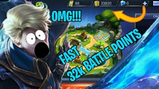 How to Earn 32k Battle Points FAST!!!!! in Mobile Legends/ML to try out new heroes(2019)