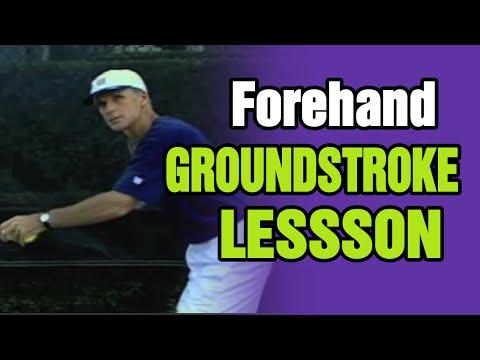 Forehand Groundstroke Lesson Tennis Forehand Groundstroke