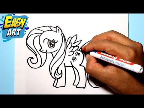 como dibujar a fluttershy my little pony how to draw my little pony