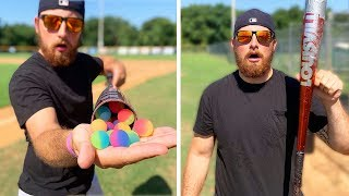 I Corked A Baseball Bat With Bouncy Balls!
