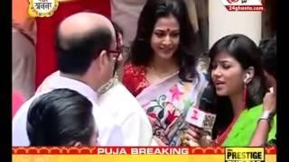 Bengali film actress Koyel Mallick celebrate Durga Puja at her house
